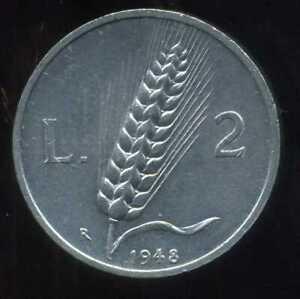 ITALIE   ITALY  2 lire  1948 ( SUP )