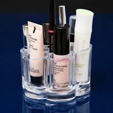 Makeup Vanity Organizer Case Cosmetics Brushes Tools Compartments Clear Acrylic