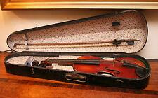 Fine Old Copy Stradivarius 4/4 Violin, 14 1/4 Inch 2 Piece Back, C19th Wood Case