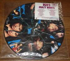 KISS ~ CRAZY NIGHTS ~ UK LP PICTURE DISC WITH ORIGINAL PVC SLEEVE & STICKER 1987