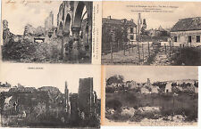 Lot 4 cartes postales anciennes GUERRE 14-18 WW1 BERRY-AU-BAC 1