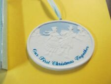 CHRISTMAS REMINISCENCE OUR FIRST CHRISTMAS TOGETHER PORCELAIN ORNAMENT NIB