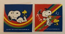 Vintage Stickers. Snoopy Stickers. Charles Shultz. Preowned. 2 Stickers.