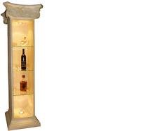 XXL Vitrine Bar  Regal Glas Bodenfase Schrank Vitrinen Säule Wohnzimmer 1851 Neu