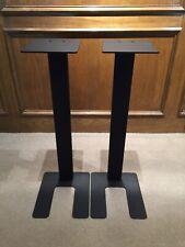 """Speaker StandsStudio Monitors New In Box Steel 28"""" Black Vintage Audio Stereo"""