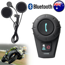 500M Motorcycle Riders Bluetooth Intercom Interphone Helmet Headset+Soft Cable