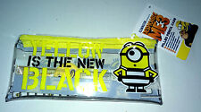 Yellow is the New Black FILLED PVC PENCIL CASE Set B&W Minions DESPICABLE ME 3