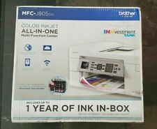 Brother INKvestment Tank MFC-J805DW Wireless All-In-One Printer New Sealed