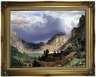 Bierstadt Storm in the Rocky Mountains Wood Framed Canvas Print Repro 18x24