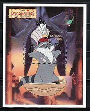 SELLOS TEMA DISNEY. GUYANA HB 198 1995 POCAHONTAS MEEKO