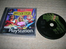WRECKIN CREW - Rare Sony Playstation PS1 / PS2 Game