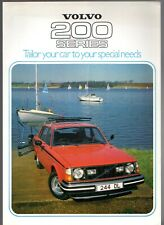 Volvo 200-Series Accessories 1978 UK Market Foldout Sales Brochure 240 260