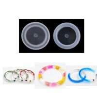 2 Size DIY Silicone Bangle Mold Making Jewelry Resin Casting Bracelet Moulds