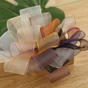 5 yards Snow Yarn Organza Ribbon Gift Wrapping Diy Clothing Accessories