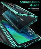 360 Metal Magnetic 2 Sides Glass Phone Case Cover for OPPO Reno4 Pro 5G Reno4 Z