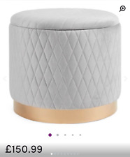 Brand New Despres Storage Ottoman Quilted Storage Stool