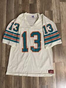 Vintage 80's Miami Dolphins Dan Marino #13 White Rawlings Jersey Size Medium