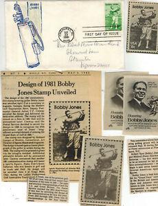 Mrs. Armistead 1/1 OOAK Handpainted 1933 RARE BOBBY JONES GOLF FDC + Articles