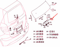 Mercedes-Benz A W169 Arrière Panneau Porte Poignée Moulure A1697401893 Neuf Vrai