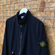 NEW £495 Stone Island Light Soft Shell-R hooded jacket - L LARGE Navy marina