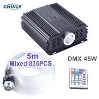 DMX 45W Fiber Optic Light 5m Mixed 835pcs Cable Starry Effect Ceiling Lighting