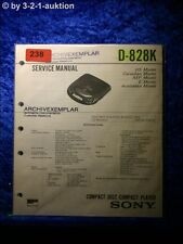 Sony Service Manual D 828k CD Player (#0238)