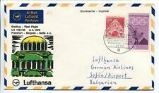 FFC 1970 Lufthansa PRIMO VOLO LH 198 - Francoforte Belgrado Sofia