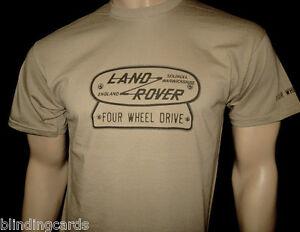 LAND ROVER FOUR WHEEL DRIVE LOGO T-SHIRT - Two colours S M L XL XXL - FWD Plate