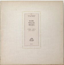 DAME NELLIE MELBA: Opera Arias and Songs-M1961LP ANGEL GREAT RECORDINGS w/ BOOK