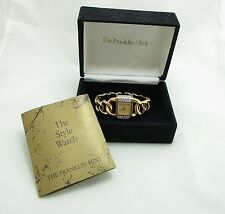 Franklin Mint Watch Bracelet Gold Chain Heavy High End Austrian Crystals  9063