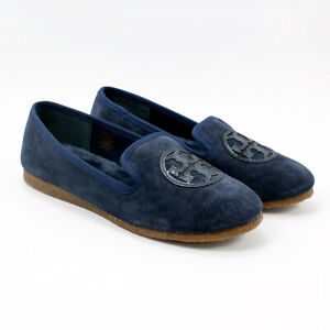 NIB Tory Burch Bright Navy Billy Slipper Flats