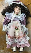 Cathay Collection 'Nelly' Porcelain Doll, On Swing, Hanging,