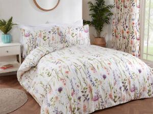 Sundour Hampshire Multi Floral Flowers Duvet Quilt Cover Bed Lined Set Bedding