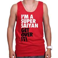 Super Saiyan Get Over It Dragon Gym Ball Workout Z Cool Gift Tank Top Shirt