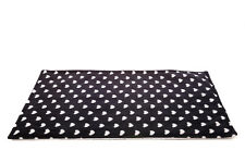 WATERPROOF Guinea Pig, and small animal fleece cage liner white hearts 120x59cm