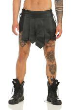 XL* Gladiator Skirt Kilt Schwarz Legionär Rock Echt Leder Larp Mittelalter NEU
