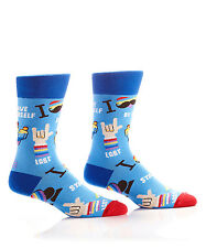 Fun & Fashionable Yo Sox Women's Crew Socks-LGBT-Gay Lesbian Pride Novelty