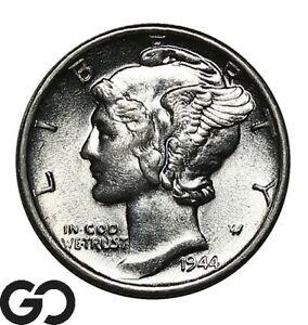 1944-S Mercury Dime, Nice Gem BU++