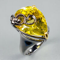 Special Price Natural Lemon Quartz 925 Sterling Silver Ring Size 8/R122470