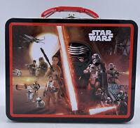 STAR WARS: Last Jedi Force Awakens - Small Tin Tote / Metal Lunch Box - NEW