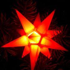 Mini LED étoile de l'Avent Ø11 intérieur orange 12 déchiqueté Noël 100237