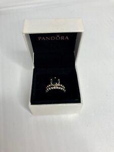 Pandora Secret Winds Black Melanite Spinel Sterling Silver Rings Stack Size 54