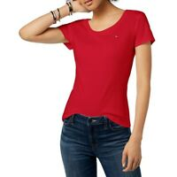 TOMMY HILFIGER NEW Women's Cotton Scoop Neck Casual T-Shirt Top TEDO