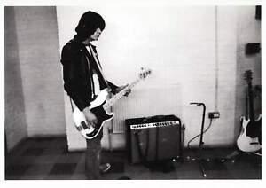 Dee Dee Ramone of The Ramones in a Studio in 1977 Modern Postcard