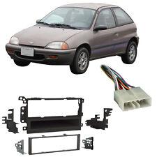 Fits Geo Metro 1992-1997 Single DIN Aftermarket Harness Radio Install Dash Kit