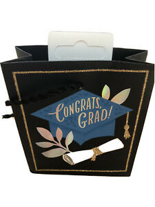 "Hallmark Graduate Small Gift Bag, Paper with ribbon handle 4.5"" x 4"""