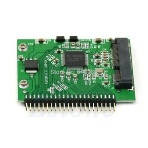2.5 Inch For Laptop mSATA SSD to 44 Pin IDE Adapter Converter as IDE HDD 5 Volt.