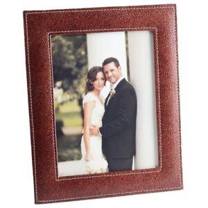 Dark Brown Eco Leatherette Handcrafted Eco Friendly Sleek Regular Photo Frame