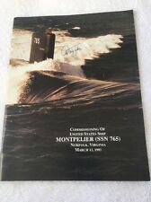 US Navy Commissioning Book USS Montpelier Submarine SS-765 1993 With Autographs