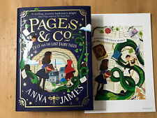 PAGES AND CO TILLY AND THE LOST FAIRY TALES + PRINT Anna James SIGNED SPRAYED HB